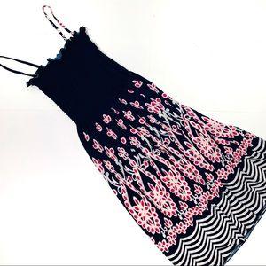 Vintage 2000s smocked midi dress XS/S